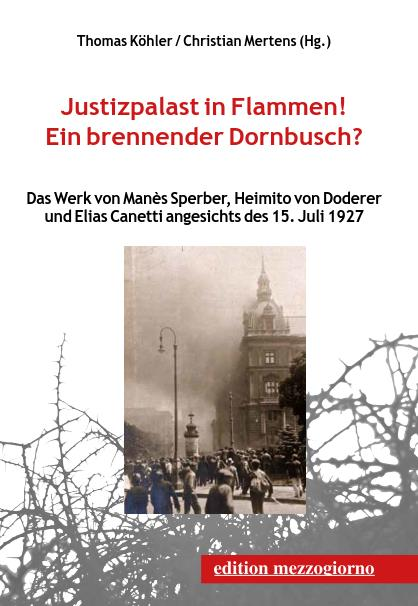 Justizpalast in Flammen